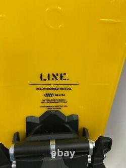 $1349 LINE Vision 108 Skis 2021 + Marker Duke PT 12 Bindings 175cm Yellow NWT