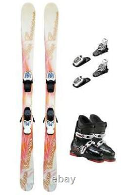 140cm Lcv Pure Skis & Marker 7.0 Bindings & Tecno-Pro Boots Mounted Package #-k2