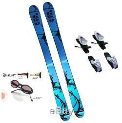164cm 365 Marker Nina Womens Skis + M-10 Bindings +Sunglasses Package k2-rski24