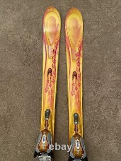 167cm K2 TNine Burnin Luv Women's Skis with MARKER MOD 11.0 Adjustable Bindings