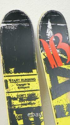 182cm ATOMIC PUNX Twin Tip Park Pipe Skis with MARKER SQUIRE Bindings