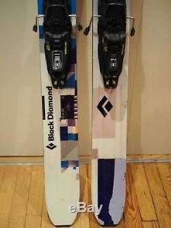 182cm Black Diamond Zealot big-mountain skis with Marker Tour F12 bindings