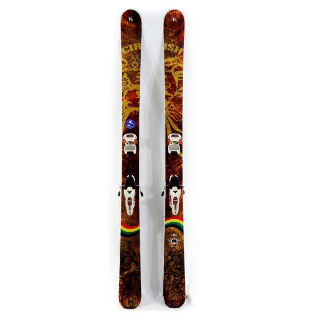 185 Nordica Girish 110 2011 Freeride Skis + Marker Jester 16 Bindings Used