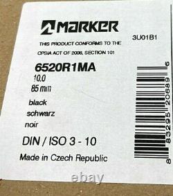 1$230 Marker M 10.0 Bindings 85mm Brake 2019/2020 Alpine Ski Adult Black FreeShp