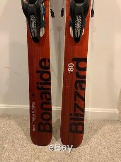 2015 Blizzard Bonafide Size 180 w Marker Jester Bindings