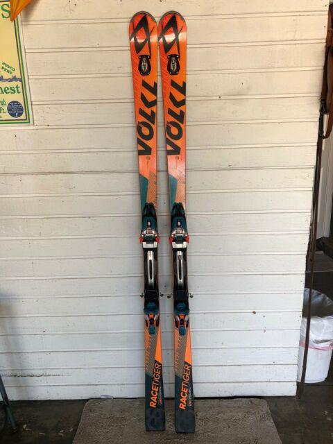 2016 Volkl Racetiger Gs 185 With Marker Rmotion 16 Bindings. Excellent Condition