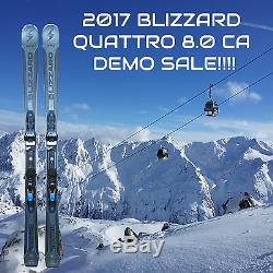 2017 Blizzard Quattro 8.0 CA Demo Skis 168cm Marker TCX 12 Demo Bindings