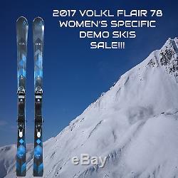 2017 VOLKL FLAIR 78 DEMO SKIS 156 CM WithMARKER LADY TCX 11 DEMO BINDINGS