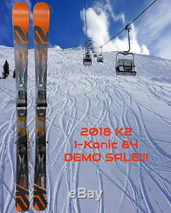 2018 K2 i-KONIC 84 DEMO SKIS 156 CM WithMARKER M3 TCX 12.0 DEMO BINDINGS