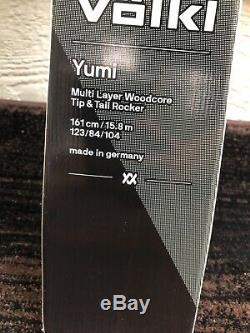2018 Volkl Yumi 161cm Women's Demo Skis with Marker Squire Demo Bindings MINT