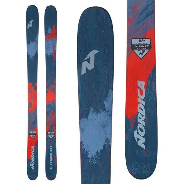 2019 Nordica Enforcer 100 177cm Skis & Marker 12.0 Tpx 110mm Ski Bindings New