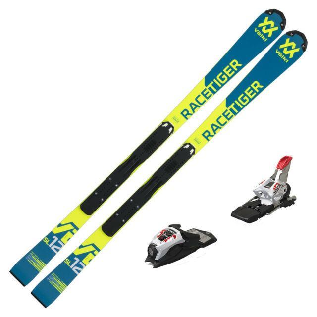 2019 Volkl Junior Racetiger Speedwall Sl R Skis With Marker Race 10 Tcx Bindings