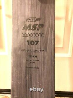 2020 4FRNT MSP 107 Skis with Marker Griffon 13 ID bindings, 175cm, Used