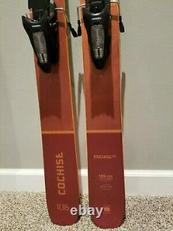 2021 Blizzard Cochise 106 185cm skis NEARLY NEW with Marker Griffon bindings