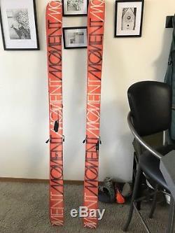Alpine touring skis with bindings Moment Garbones, Marker Dukes 16DIN, BD skins