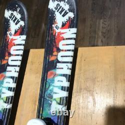 Axis Typhoon kids twin tips skis 125cm marker bindings