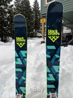 Black Crow Atris Skis 183. Marker Squire Bindings. 2017 models. Excellent Cond