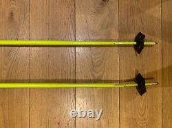 Black Crows Atris 108 skis with Marker Griffon bindings and matching poles