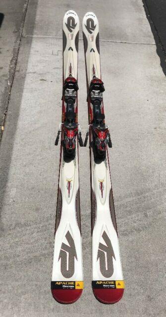 K2 Apache Recon 184 Cm All Mountain Skis With Marker Titanium Mod 12.0 Bindings