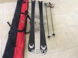 K2 Apache Recon skis 160cm Marker 12.0 ski bindings Scott Composite Poles