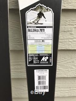 K2 BeLUVed 78 Ti 149cm Women's Skis with Marker MXC 12.0TC Bindings BRAND NEW