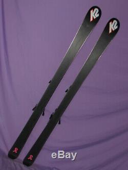 K2 Burnin' Luv TNine T9 Women's Skis 160cm with Marker 11.0 IBX adj ski bindings