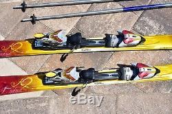 K2 Burnin Luv Womens Skis 146cm With Marker Mod 11.0 Bindings & Ski Poles