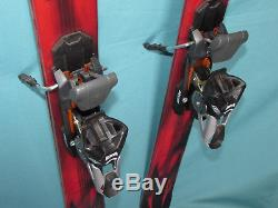 K2 Enemy freeride twin tip skis 163cm with Marker Titanium 1200 FREE ski bindings