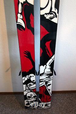 K2 HellBent Twin Tip Rocker Powder Skis 169 cm. Marker Griffon Bindings SICKEST