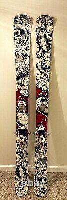K2 Hellbent Adult Freeride Powder Skis 179cm with Marker Jester Bindings