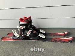 K2 INDY Kid's Skis Shoes Sz1c 88cm with Marker 4.5 DEMO Adjustable Youth Bindings