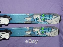 K2 INDY Kids Skis 136cm Rocker Tip & Tail with Marker 7.0 Demo Adjustable Bindings
