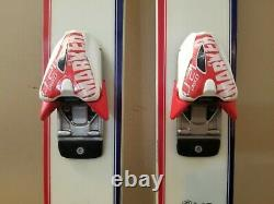 K2 Pabst Brewskis Skis with Marker bindings, K2 poles, and Scott PBR goggles