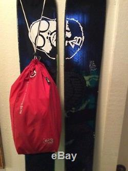 K2 Petitor Skis Used Men's Skis with Marker Dukes Bindings and G3 Skins