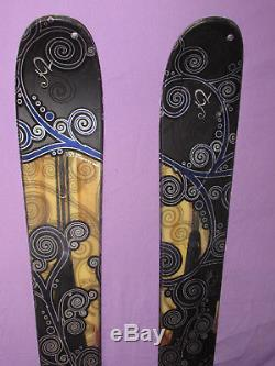 K2 Phat Luv TNine womens POWDER skis 153cm with Marker 9.0 Speedpoint bindings