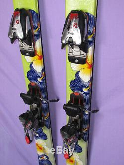 K2 Phat Luv TNine womens POWDER skis 160cm with Marker 12.0 FREE ski bindings