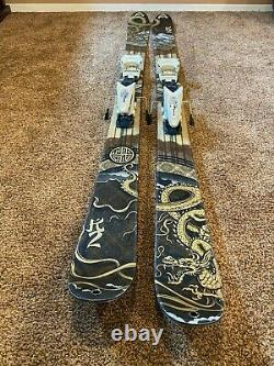 K2 Skis Kung Fujas Size 179cm with Marker Schizo 12.0 bindings