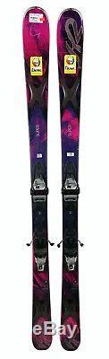 K2 Super Free Womens Skis 146 cm Marker Bindings Pink/Black-USED Gold
