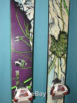 K2 obSETHed big mountain twin skis 189cm with Marker Jester ski bindings SETH