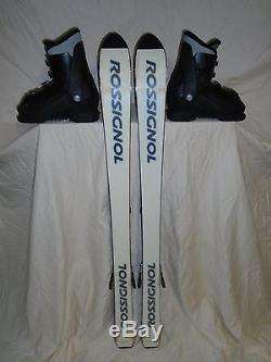 KIDS YOUTH ROSSIGNOL 120cm SKI, MARKER BINDING, NORDICA US SIZE 3 BOOT FREE SHIP
