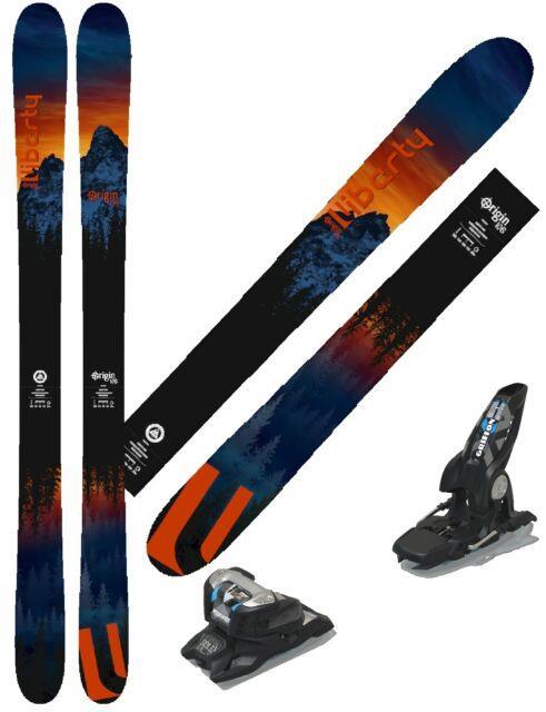 Liberty Skis 2020 Origin 106 182cm All Mtn Skis With Marker Griffon Bindings, New