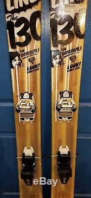 LINE SKIS THE 130 186CM SKIS With MARKER JESTER 16 BINDINGS
