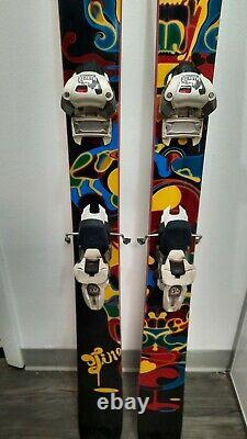 Line Twin Tip All Mountain Skis With Marker Bindings Size 168cm