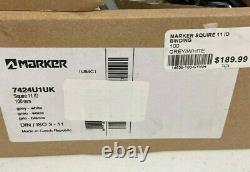 Marker Squire 11 ID Bindings 2021 NIB 100mm Brake Alpine Ski White Grey