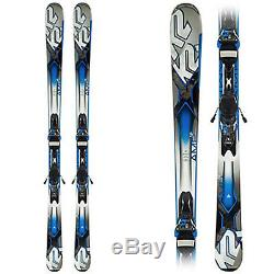 NEW 2015 156 cm K2 Amp 76 Ti rockered skis with integrated Marker M3 bindings