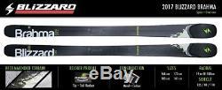NEW 2017 Blizzard Brahma Skis 173cm + Marker Griffon 13 D Bindings 8A609900