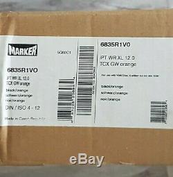 NIB MARKER iPT WR XL 12.0 TCX GW SKI BINDINGS BLACK/ORANGE 6835R1V0