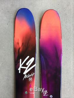 New 2017 K2 Alluvit 88 Women's Skis 156cm with Marker Squire Bindings