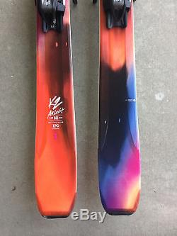 New 2017 K2 Alluvit 88 Women's Skis 170cm with Marker Squire Bindings