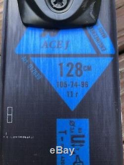 Nordica Ace J 128cm Jr Twin-Tip Ski Pkg withNordica Boots & Marker 4.5 Bindings
